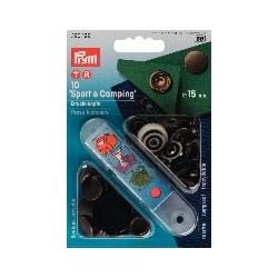 """Boutons pressions """"Sport&Camping"""" 15mm  laiton antique"""